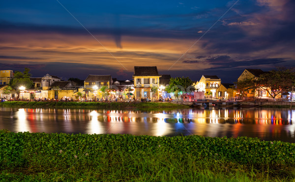 Historic city of Hoi An in Vietnam  Stock photo © tommyandone