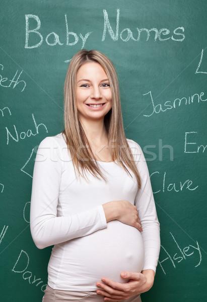 Nome baby donna incinta scegliere Foto d'archivio © tommyandone