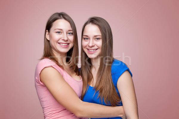 студию молодые близнец счастливым Сток-фото © tommyandone