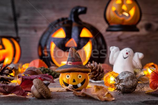 Tradicional assustador halloween férias assustador fogo Foto stock © tommyandone