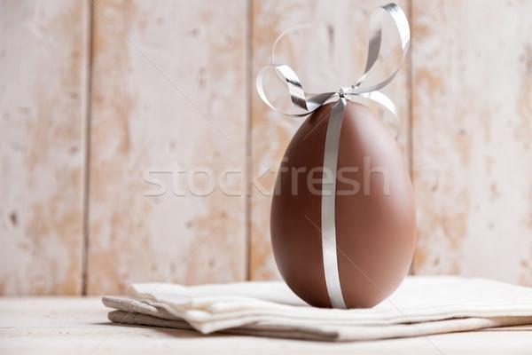Сток-фото: шоколадом · пасхальное · яйцо · лента · сезонный · Пасху