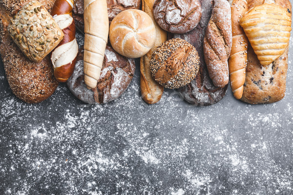 Variety of delicious fresh and healthy bread Stock photo © tommyandone