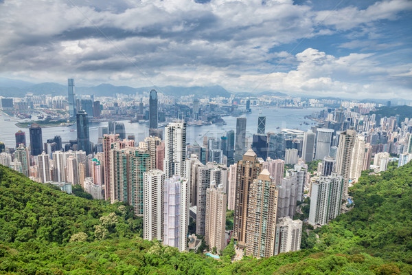 Aerial view of Honk Kong Stock photo © tommyandone