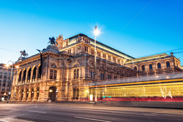 State Opera in Vienna Austria at night Stock photo © tommyandone