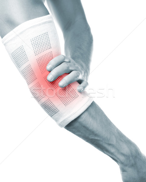 Elbow pain Stock photo © tommyandone