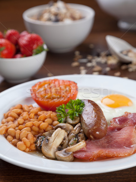 Full English breakfast Stock photo © tommyandone
