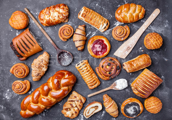 Delicious and sweet seasonal pastry background Stock photo © tommyandone
