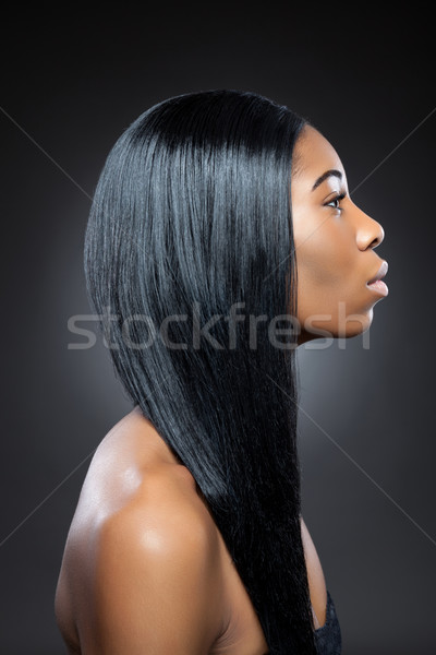 black beauty with long straight hair stock photo 169 tomas