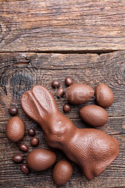 шоколадом Пасхальный заяц яйца яйцо Сток-фото © tommyandone