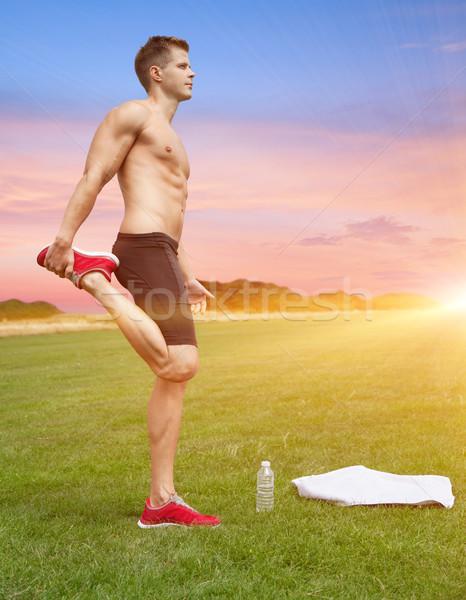 из красивой декораций мышечный человека Сток-фото © tommyandone