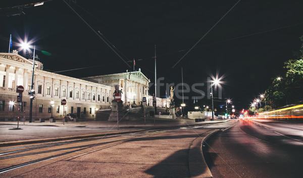 Parlement gebouw ring weg Wenen historisch Stockfoto © tommyandone