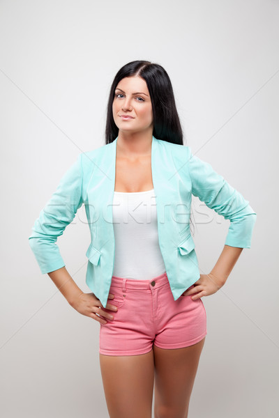 Jeune femme mode rose short belle Photo stock © tommyandone
