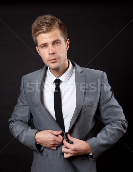 Erzeugnis Eindruck jungen Geschäftsmann Mann Arbeit Stock foto © tommyandone