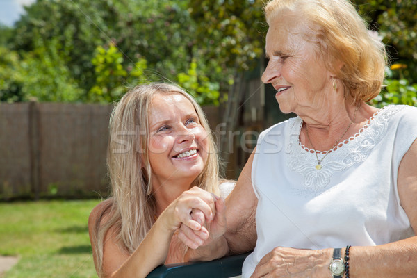 Providing care for elderly  Stock photo © tommyandone