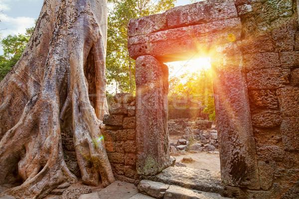 Ruiny świątyni wygaśnięcia słońce świat podróży Zdjęcia stock © tommyandone