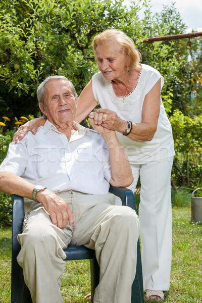 Elderly couple enjoying life together  Stock photo © tommyandone