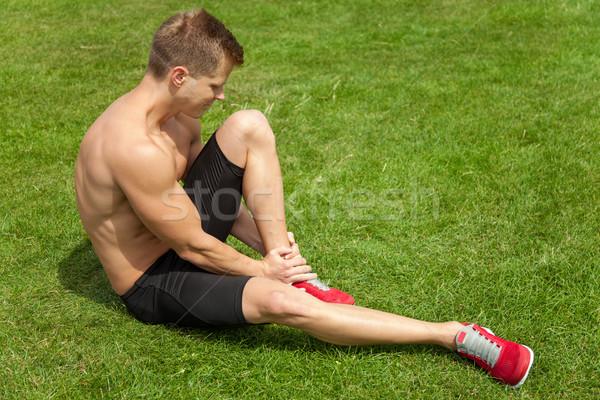 Gamba lesioni uomo caviglia sport Foto d'archivio © tommyandone