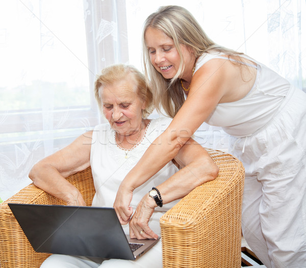 Providing help and care for elderly Stock photo © tommyandone