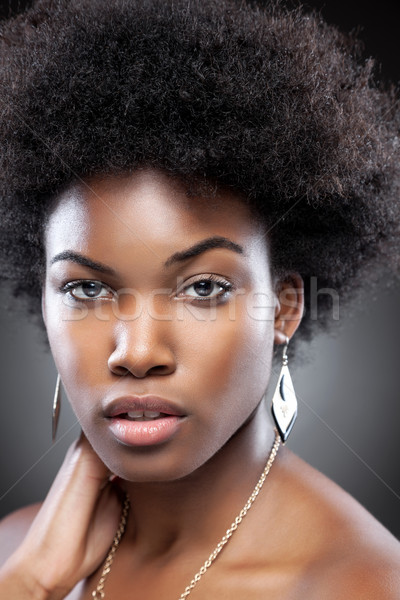 Young and beautiful black woman  Stock photo © tommyandone