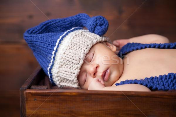 Słodkie mały wewnątrz skrzynia Zdjęcia stock © tommyandone