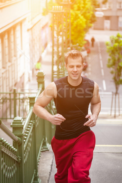 Outdoor fitness concept in the city Stock photo © tommyandone