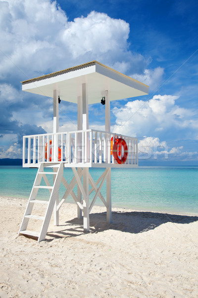 Beach guard tower in Boracay Stock photo © tommyandone