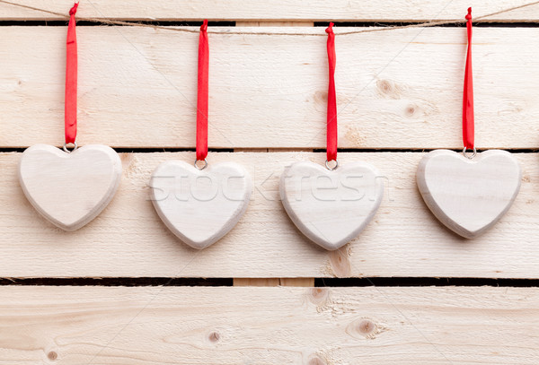 Love concept. Hearts hanging on a string Stock photo © tommyandone