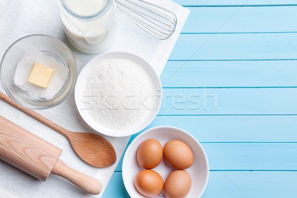 Stockfoto: Koken · variëteit · ingrediënten · exemplaar · ruimte