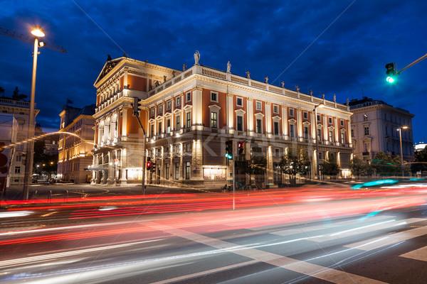 Вена опера дома ночь известный музыку Сток-фото © tommyandone