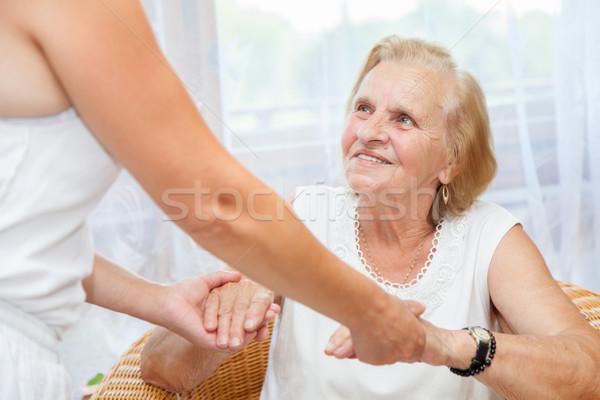Providing care for elderly  Stock photo © tommyandone