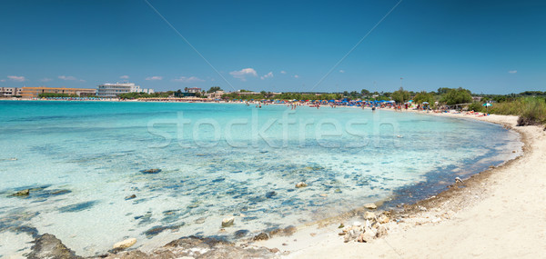 Beautiful beach on the southern coast of Italy Stock photo © tommyandone