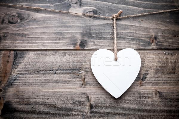 любви сердце подвесной строку выстрел Сток-фото © tommyandone