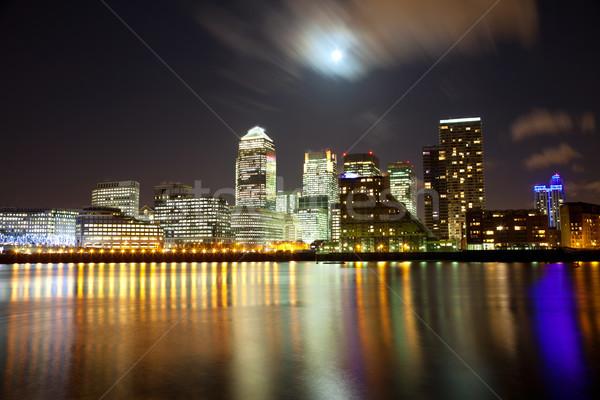 市 ロンドン 満月 高層ビル 空 建物 ストックフォト © tommyandone