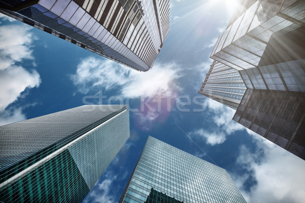 Tall skyscrapers in Hong Kong Stock photo © tommyandone