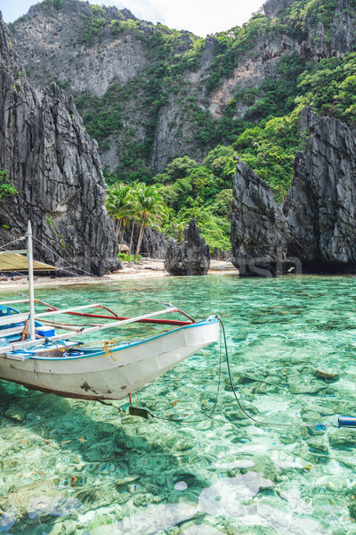 Beautiful tropical scenery in El Nido, Palawan, Philippines Stock photo © tommyandone