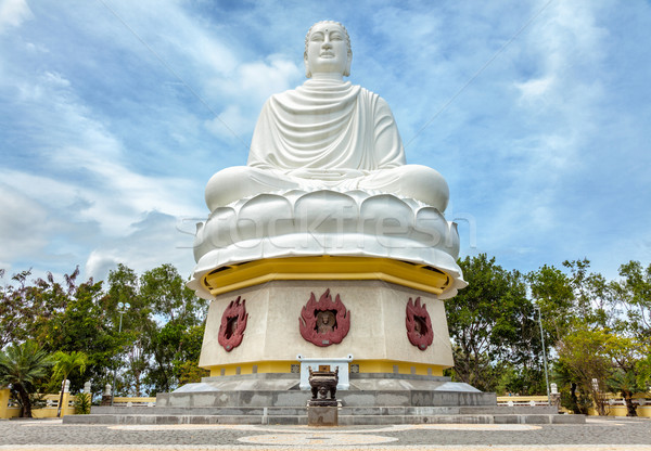 Big Buddha at the Long Son pagoda in Nha Trang Vietnam Stock photo © tommyandone