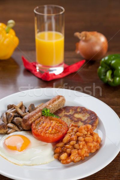 English vegetarian breakfast Stock photo © tommyandone