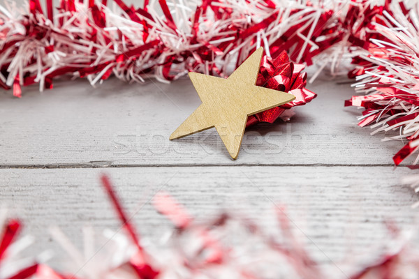 Christmas decoration on wooden background Stock photo © tommyandone