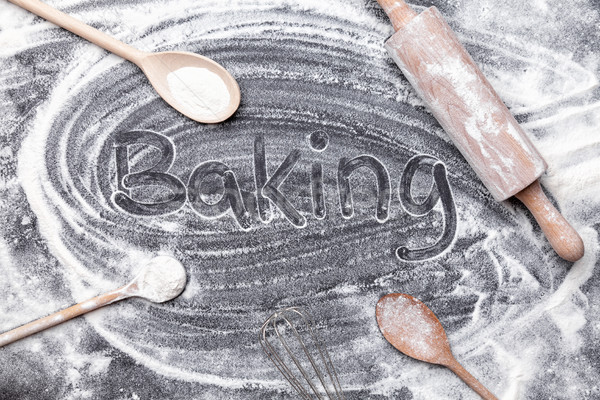 Stok fotoğraf: Pişirme · malzemeler · bo