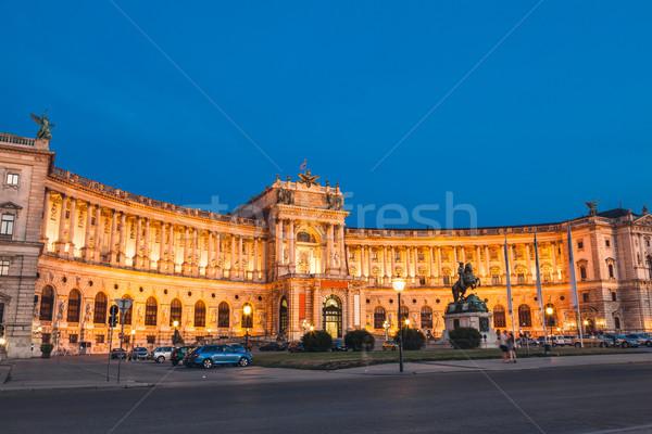 Hofburg palace at night in Vienna Stock photo © tommyandone