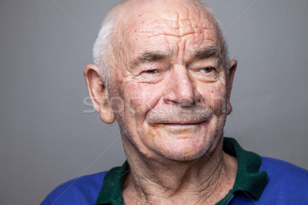 Stock photo: Portriat of an elderly man