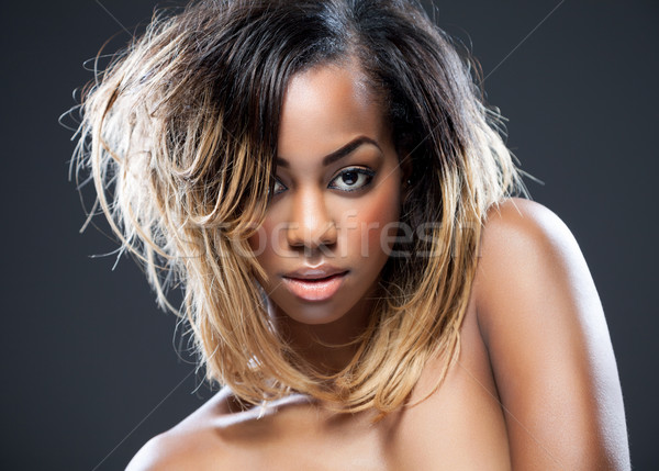 Black beauty with perfect skin  Stock photo © tommyandone