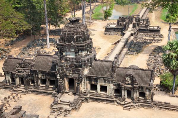 Foto stock: Templo · angkor · Camboja · árvore · cara · natureza