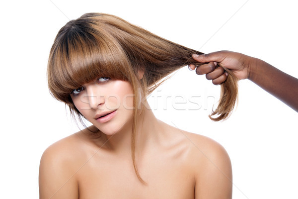 Beauty with strong hair Stock photo © tommyandone