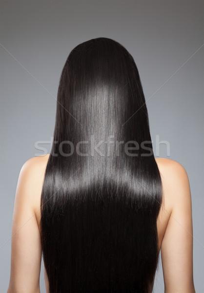 Długo proste włosy widok z tyłu kobieta dziewczyna moda Zdjęcia stock © tommyandone