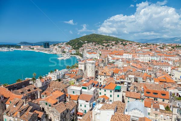 Croazia casa città panorama urbana Foto d'archivio © tommyandone