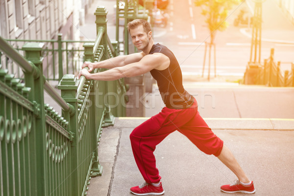 Открытый фитнес город здоровья солнце спорт Сток-фото © tommyandone