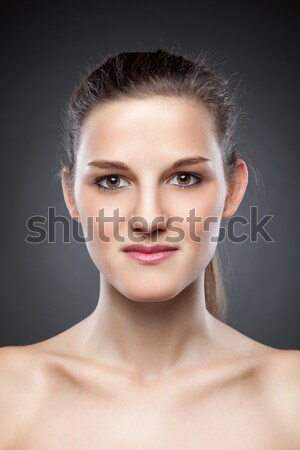 Young natural woman with great skin complexion Stock photo © tommyandone