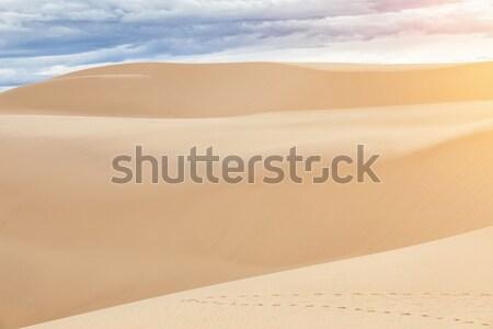 Sable blanc Viêt-Nam célèbre nature paysage sable Photo stock © tommyandone