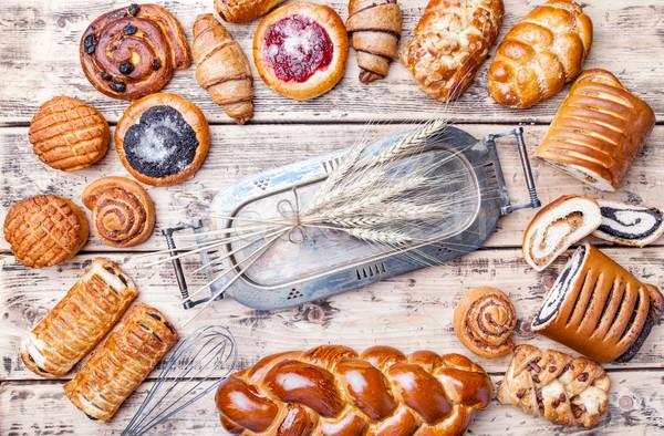 Finom édes szezonális sütemény friss egészség Stock fotó © tommyandone